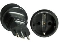MicroConnect Power Adapter IT M to Schuko F Italy 3-pin M -  CEE 7/7 F PEAIT3MSCF - eet01