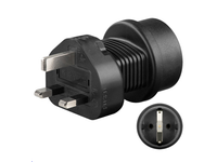 PETRAVEL1 MicroConnect Universal adapter UK to Schuko Work to UK, US, DK, CH, IT. - eet01