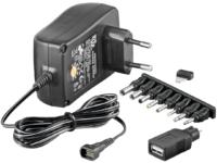 MicroConnect 3-12V Univ. Power Supply Including USB + 8 DC Adapter PETRAVEL30 - eet01