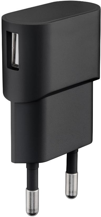 MicroConnect Charger for Smartphones 1Amp 1 USB Port, Slim Design PETRAVEL43B - eet01