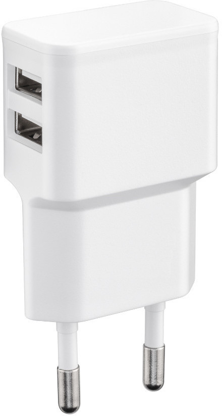 MicroConnect Charger for Smartphones 2.4Amp 2USB Port, Slim Design PETRAVEL44 - eet01