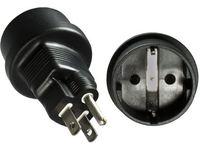 MicroConnect Power Adapt. US 3pin - CEE/7 F USA Plug 3pin - CEE/7 Female PEUSC7FAD - eet01
