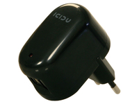 Icidu USB AC Adapter 2 port Black 2x USB female PI-707712 - eet01