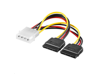 PI01092 MicroConnect SATA Power 4pin-2x15pin 0,2m  - eet01