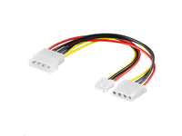 MicroConnect PC Y-Power supply cable 0,13m 5,25 plug-1x5,25 +1x 3,5 jack PI01132 - eet01