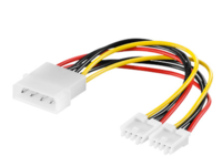 PI01133 MicroConnect PC Y-Power supply cable, 0,13M 5,25 plug->2x 3,5 jack - eet01