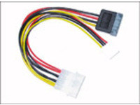 "PI01162 MicroConnect SATA Power 4pin-4(3,5"")+15pin M / F+F - eet01"