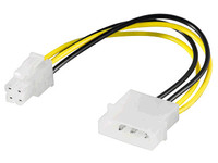 PI02013 MicroConnect Internal power cable 5,25 Male - P4 Male 16cm - eet01