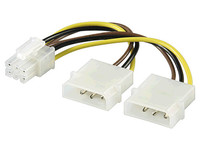 PI1919 MicroConnect 4 pin to 6 pin PCI Express  - eet01