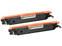 Quality Imaging Toner Black CE310AD Pages: 1.200x2 QI-HP1011-TWIN - eet01