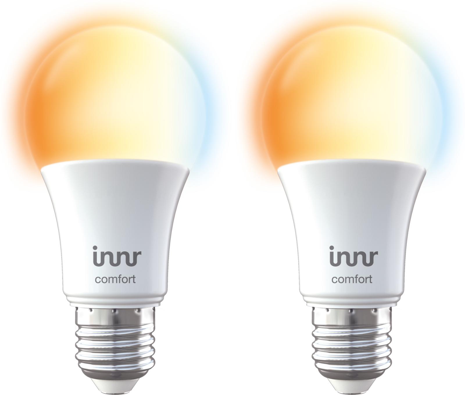 INNR Lighting 2x E27 Smart LED lamp, 2200K-5000K tunable white RB 278 T-2 - eet01
