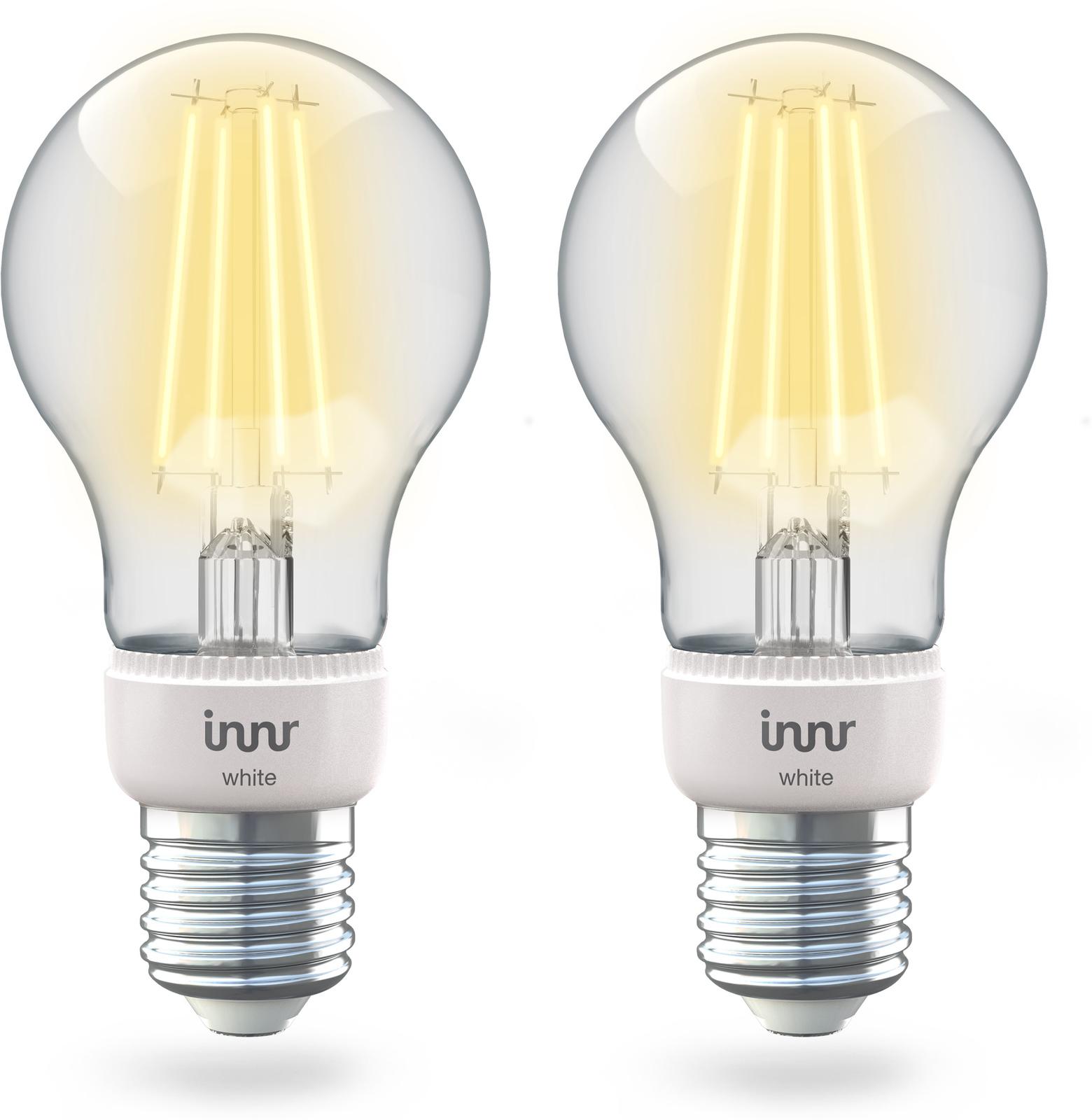 INNR Lighting 2x E27 Smart Filament Bulb White, 2.700K 806lm Z3.0 RF 265-2 - eet01
