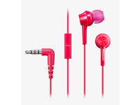 Panasonic In-ear, microfone, Pink 20hz-20khz, 9mm. RP-TCM105E-P - eet01