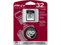 PNY SDHC HIGH PERFORMANCE CLASS 10 32GB UHS-1 R 80MB/S W 40MB/S SD32G10HIGPER80-EF - eet01