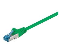 MicroConnect S/FTP CAT6A 0,5M GREEN LSZH 4x2xAWG 27/7 CU SFTP6A005G - eet01