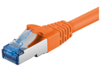 MicroConnect SFTP CAT6A 2M Orange SNAGLESS LSZH SFTP6A02O - eet01