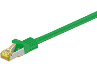MicroConnect S/FTP CAT 7 RJ45 GREEN 0.25m Cat 7 PIMF LSZH SFTP70025G - eet01