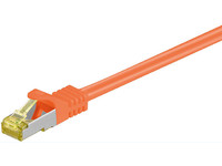 MicroConnect CAT 7 S/FTP  RJ45 ORANGE 0.25m Cat 7 PIMF tested up to 600MHz SFTP70025O - eet01