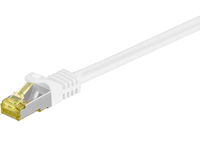MicroConnect CAT 7 S/FTP  RJ45 WHITE 0.25m Cat 7 PIMF tested up to 600MHz SFTP70025W - eet01