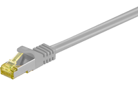 MicroConnect RJ45 patch cord S/FTP (PiMF), W. CAT 7 raw cable 2m Grey SFTP702 - eet01