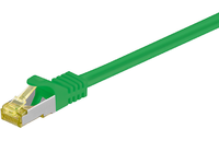 MicroConnect RJ45 patch cord S/FTP (PiMF), W. CAT 7 raw cable 15m Green SFTP715G - eet01