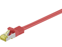 MicroConnect CAT 7 S/FTP  RJ45 RED 30m Cat 7 PIMF tested up to 600MHz SFTP730R - eet01