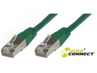 MicroConnect S/FTP CAT6 15m Green LSZH PiMF (Pairs in metal foil) SSTP615G - eet01