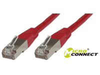 MicroConnect STP CAT6 0.5M RED LSZH  STP6005R - eet01