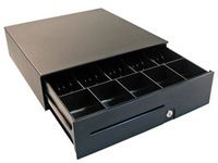 APG Cash Drawer 100 Slide-Out Cash Drawer Black, 406 x424x125, T520-BL1616-M1 - eet01