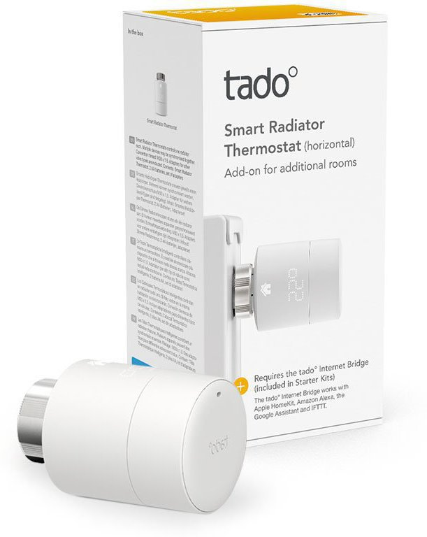 Tado Smart Radiator Thermostat Single pack - Horizontal ML TAD-103107-C1 - eet01