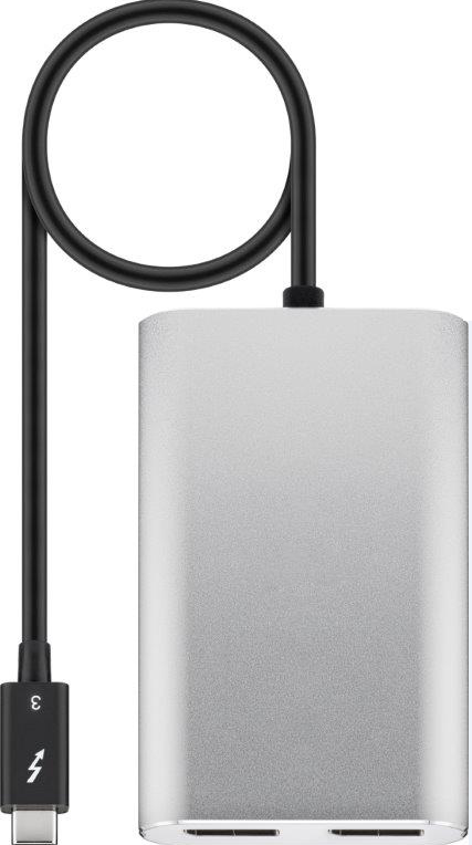 MicroConnect Thunderbolt 3 - 2 X DP adapter USB-C to 2 X DP M/F 0,45m TB32XDP - eet01
