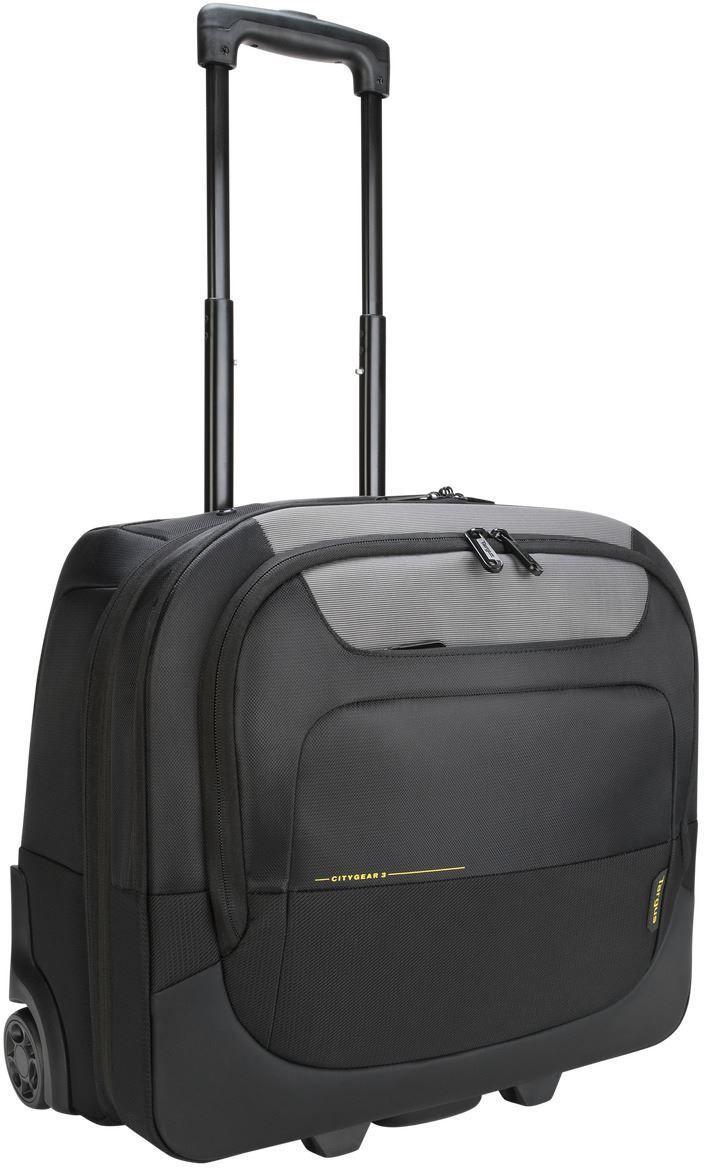 Targus City Gear 17.3in Laptop Roller Black Grey TCG717GL - eet01