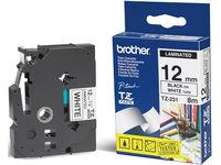Brother Gloss Laminat 12mm, Black/Whi  TX231 - eet01
