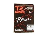 Brother P-Touch Tape Black On White 24 mm x 8 m TZ-251 - eet01