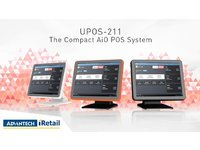"""Advantech 15"""",PCAP,J1900,4G,64G Msata,4COM,5USB,Blk UPOS-211DP-BST30 - eet01"""