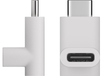 MicroConnect USB-C to USB-C Adapter, White Female to Male, 90 angle plug USB3.1CCAW - eet01