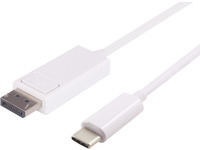 MicroConnect USB - C to DP V1.2, 2m White USB3.1 C to Displayport cable USB3.1CDPB2W - eet01
