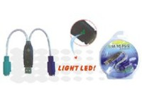 MicroConnect USB A - Converter 2x PS/2 0,3m Support W98, WinME, W2000, XP, USBA2PS2 - eet01