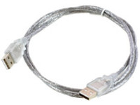 MicroConnect USB  Cable A - A 1m. M-M Transparent USBAA1T - eet01