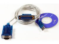 USBADB25 MicroConnect USB A - Serial DB9 M-M 1,8m Incl Adapter DB9 to DB25 F-M - eet01