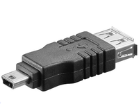 MicroConnect Adapter USB A-B 5pin mini F-M USB 2.0 USBAFBMINI - eet01