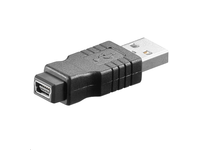 MicroConnect Adapter USB A-B 5pin mini M-F USB 2.0 USBAMBFMINI - eet01