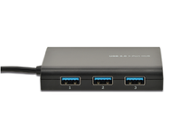 MicroConnect USB3.0 to Ethernet+3hub, Black Supports Windows and Mac OS USBETH3GB - eet01