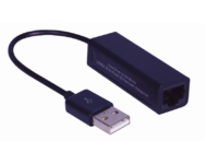 MicroConnect USB2.0 to Ethernet, Black Plug and play. USBETHB - eet01