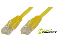 MicroConnect U/UTP CAT5e 0.5M Yellow PVC Unshielded Network Cable, UTP5005Y - eet01