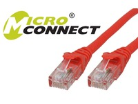 UTP502RBOOTED MicroConnect UTP CAT5E 2M RED SNAGLESS  - eet01