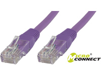 MicroConnect U/UTP CAT5e 10M Purple PVC Unshielded Network Cable, UTP510P - eet01