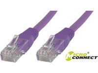 MicroConnect U/UTP CAT5e 15M Purple PVC Unshielded Network Cable, UTP515P - eet01