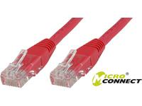 MicroConnect U/UTP CAT5e 20M Red PVC Unshielded Network Cable, UTP520R - eet01