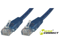 MicroConnect U/UTP CAT6 0.2M Blue LSZH Unshielded Network Cable, UTP6002B - eet01